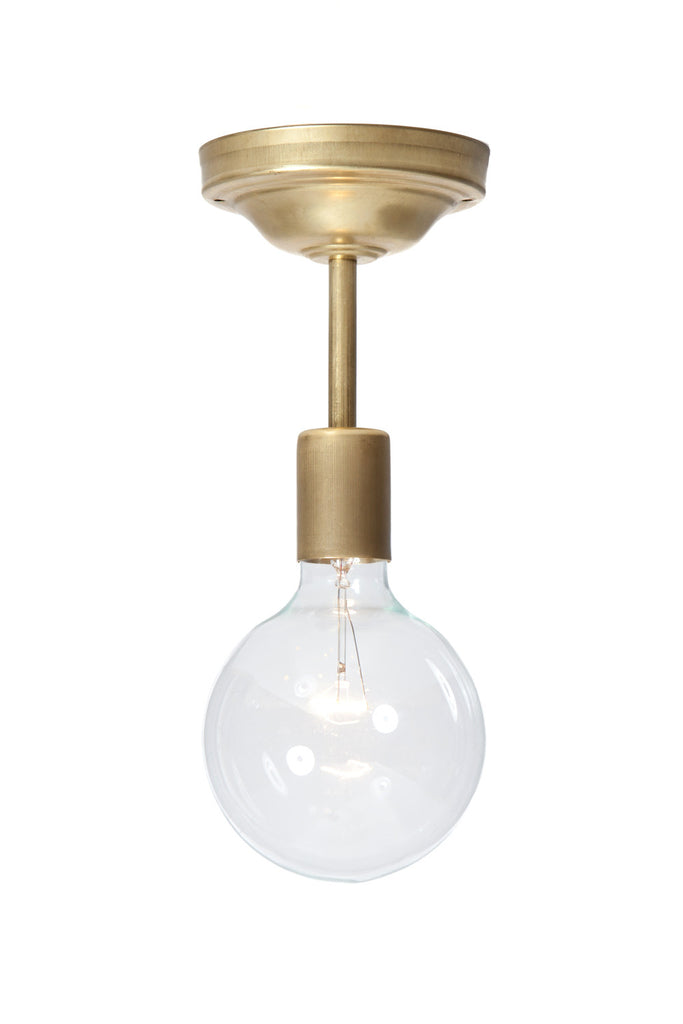 Glass Globe and Brass Ceiling Light