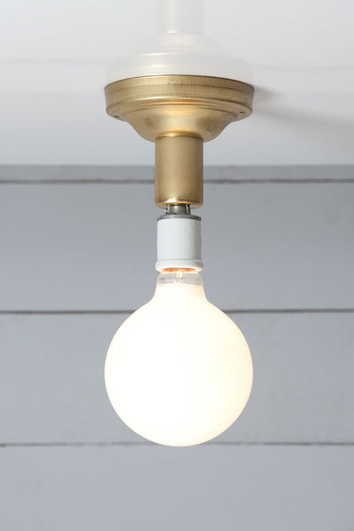 Brass Semi Flush Ceiling Light