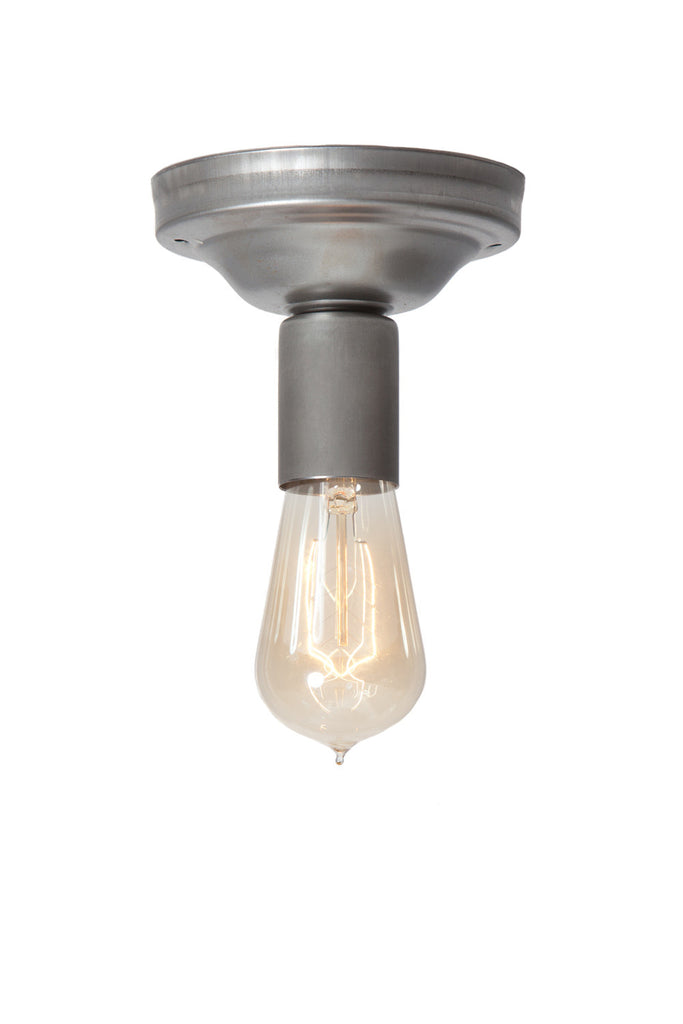 Steel Ceiling Light - Bare Bulb