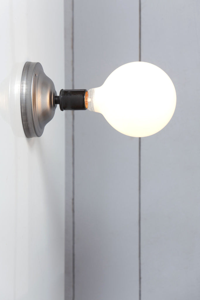 Black and Steel Wall Sconce Light