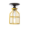 Industrial Lighting - Yellow Cage Light - Ceiling Mount - Industrial Light Electric - 2