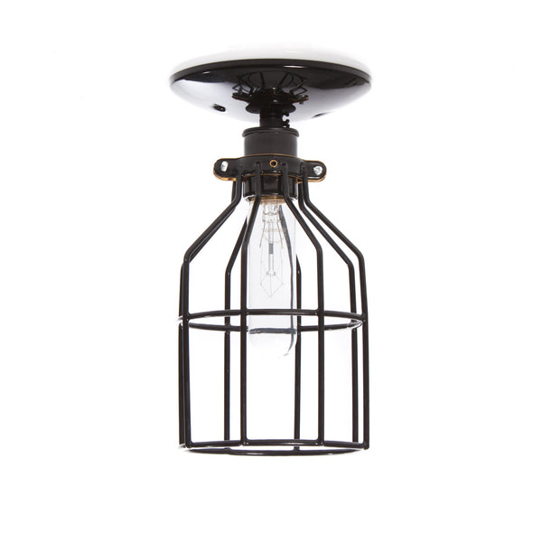 Industrial Lighting Black Cage Light Ceiling Mount