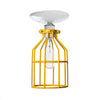 Industrial Lighting - Yellow Cage Light - Ceiling Mount - Industrial Light Electric - 3