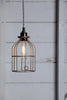 Industrial Pendant Lighting - Vintage Rusted Wire Cage Light - Industrial Light Electric - 2