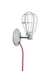 Industrial Wall Mount Sconce - Plug In - Modern Cage Light - Industrial Light Electric - 2