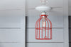 Industrial Lighting - Red Cage Light - Ceiling Mount - Industrial Light Electric - 4