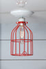 Industrial Lighting - Red Cage Light - Ceiling Mount - Industrial Light Electric - 2