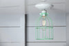 Industrial Lighting - Mint Green Cage Light - Ceiling Mount - Industrial Light Electric - 3