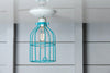 Industrial Lighting - Turquoise Blue Cage Light - Ceiling Mount - Industrial Light Electric - 4