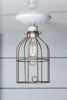 Industrial Lighting - Vintage Metal Cage Light - Ceiling Mount - Industrial Light Electric - 1