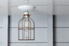 Industrial Lighting - Vintage Metal Cage Light - Ceiling Mount - Industrial Light Electric - 3