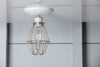 Vintage Wire Cage Light Ceiling Mount - Industrial Light Electric - 3