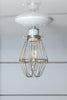 Vintage Wire Cage Light Ceiling Mount - Industrial Light Electric - 1