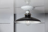 Industrial Metal Shade Light - 10in Black Shade Lamp - Semi Flush Mount - Industrial Light Electric - 3