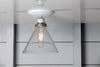 Glass Cone Shade Light - Semi Flush Mount - Industrial Light Electric - 3