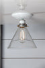 Glass Cone Shade Light - Semi Flush Mount - Industrial Light Electric - 1