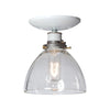 Glass Shade Semi Flush Mount Light Fixture