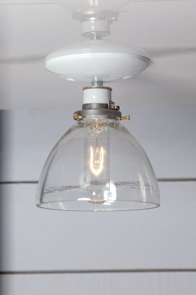Glass Shade Light - Semi Flush Mount - Industrial Light Electric - 1