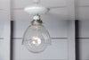 Glass Shade Light - Semi Flush Mount - Industrial Light Electric - 3