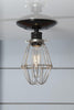 Vintage Wire Cage Light Ceiling Mount - Industrial Light Electric - 2