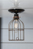 Industrial Lighting - Vintage Metal Cage Light - Ceiling Mount - Industrial Light Electric - 2