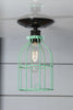 Industrial Lighting - Mint Green Cage Light - Ceiling Mount - Industrial Light Electric - 2