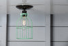 Industrial Lighting - Mint Green Cage Light - Ceiling Mount - Industrial Light Electric - 4
