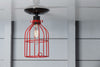 Industrial Lighting - Red Cage Light - Ceiling Mount - Industrial Light Electric - 3