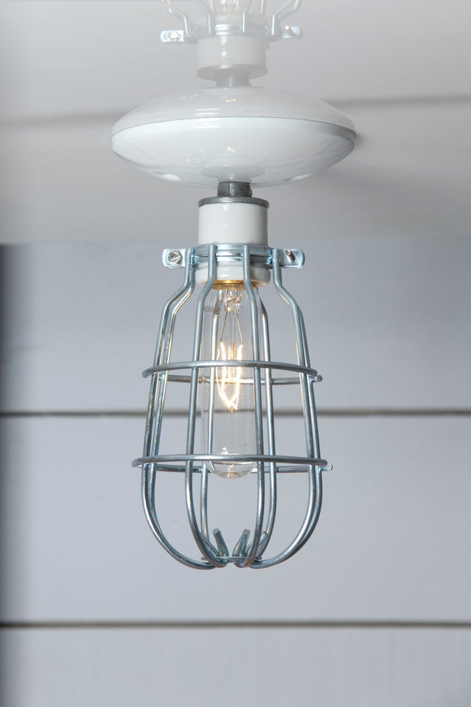 Ceiling Mount Cage Light Industrial Light Electric Hand