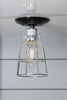 Industrial Cage Light - Ceiling Mount - Industrial Light Electric - 1