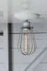 Industrial Modern Lighting - Wire Cage Light - Ceiling Mount - Industrial Light Electric - 1