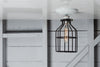 Industrial Lighting - Black Cage Light - Ceiling Mount - Industrial Light Electric - 4