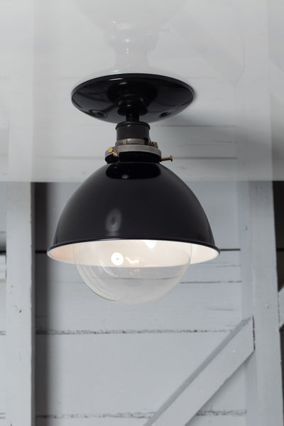 Industrial Metal Shade Lamp - Semi Flush Mount - Industrial Light Electric - 1