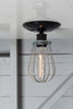 Industrial Modern Lighting - Wire Cage Light - Ceiling Mount - Industrial Light Electric - 4