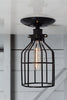 Industrial Lighting - Black Cage Light - Ceiling Mount - Industrial Light Electric - 1