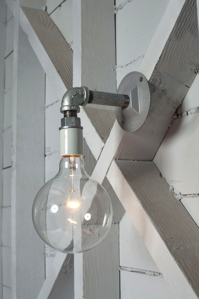 industrial wall sconce light bare bulb pipe lamp