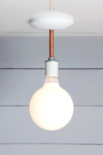 Copper Semi Flush Mount Ceiling Light