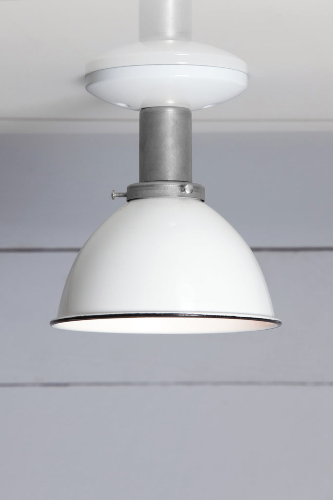 White Shade Ceiling Mount Light