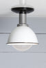 Black and White Barn Light Ceiling Mount
