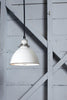 White Farmhouse Metal Shade Pendant Light