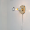 Brass Plug in Wall Sconce