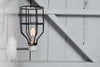 Industrial Wall Light - Black Wire Cage Wall Sconce Lamp - Industrial Light Electric - 2