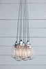 Industrial Wire Cage Chandelier - Seven Lights