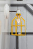 Industrial Wall Sconce - Yellow Wire Cage Wall Light - Industrial Light Electric - 2