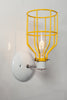 Industrial Wall Sconce - Yellow Wire Cage Wall Light - Industrial Light Electric - 3