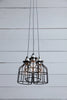 Industrial Cage Light Chandelier