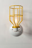 Industrial Wall Sconce - Yellow Wire Cage Wall Light - Industrial Light Electric - 4