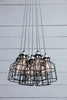7 Light Chandelier Industrial Cage