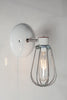 Industrial Wall Lamp - Wire Cage Wall Sconce Lamp - Industrial Light Electric - 4