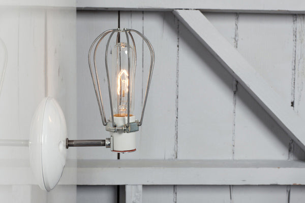 Industrial Wall Lamp Wire Cage Wall Sconce Lamp